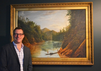 Proudly sharing my office with the Downes landscape painting.