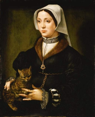 Ambrosius_Benson_-_Portrait_of_a_Woman_with_Cat